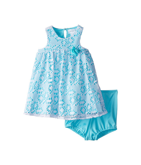 Us Angels - Sleeveless Racer Back Empire (Infant) (Aqua) Girl's Dress