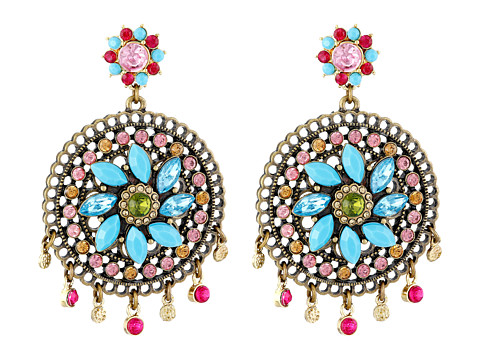 Betsey Johnson - Turquoise Caicos Filigree Chandelier Earrings (Multi) Earring