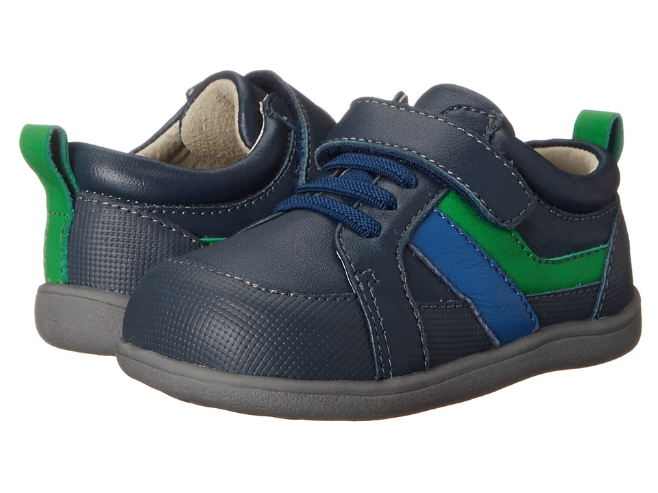 See Kai Run Kids - Darius (Toddler) (Navy) Boys Shoes