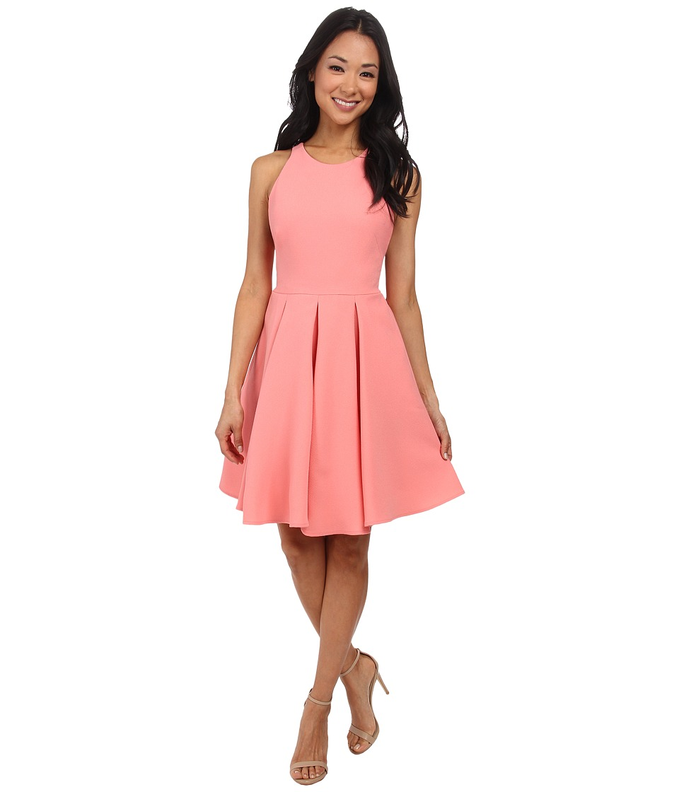 ABS Allen Schwartz Cocktail Dress w/ Lace Back (Sorbet) Women