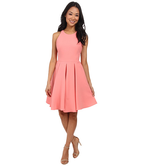 ABS Allen Schwartz - Cocktail Dress w/ Lace Back (Sorbet) Women's Dress