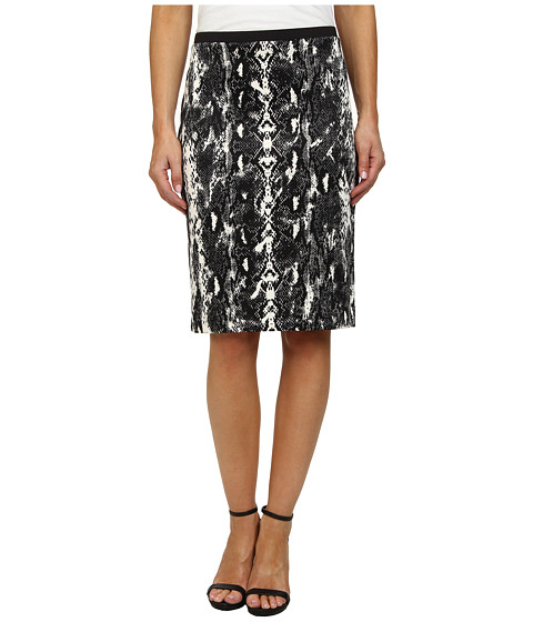 Calvin Klein - Printed Pencil Skirt (Black Combo) Women's Skirt