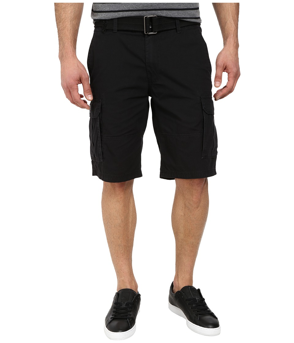 DKNY Jeans - Mini Ripstop Cargo Shorts in Black (Black) Men's Shorts
