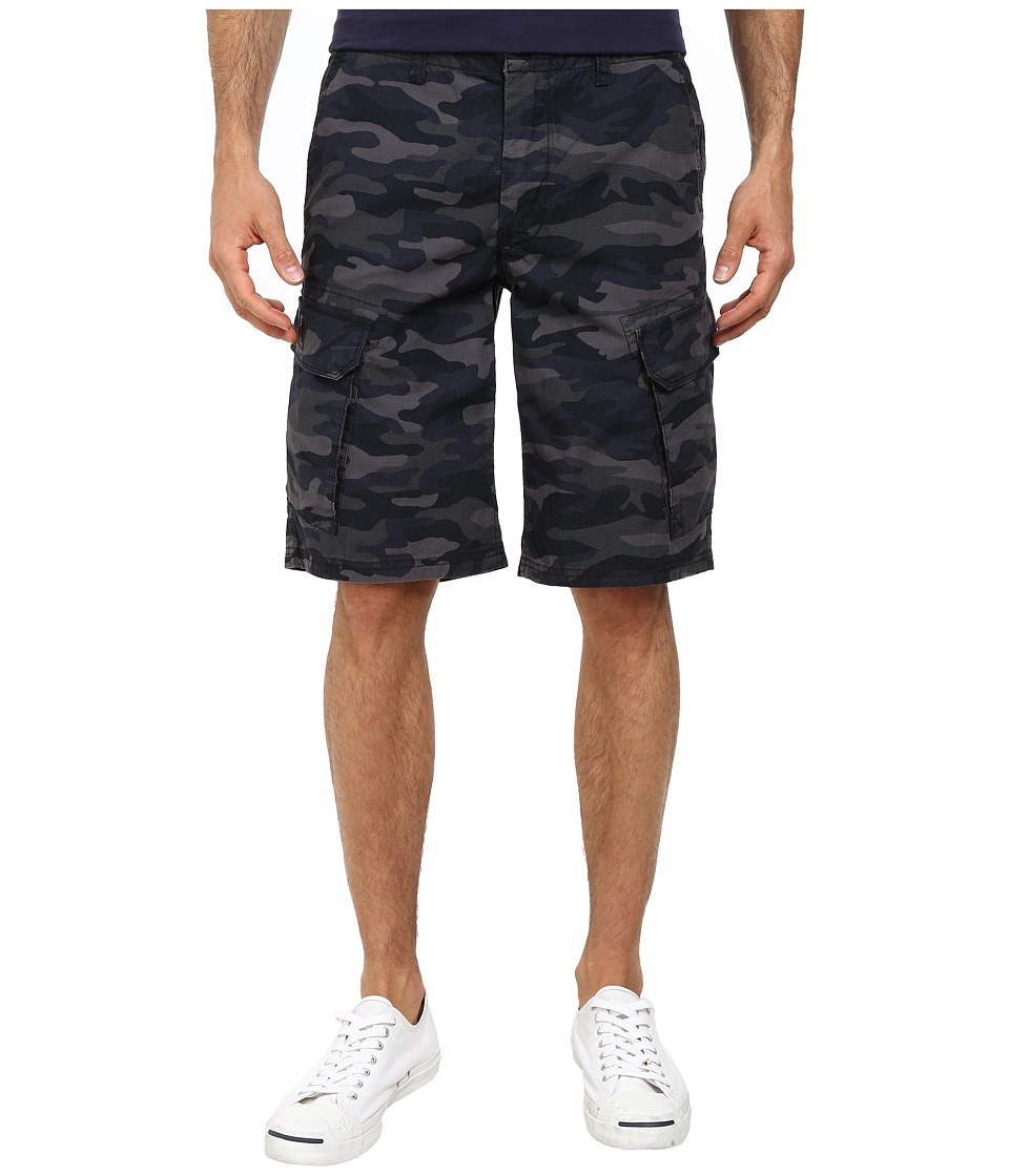 DKNY Jeans - Mini Ripstop Camo Cargo Shorts in Black (Black) Men's Shorts