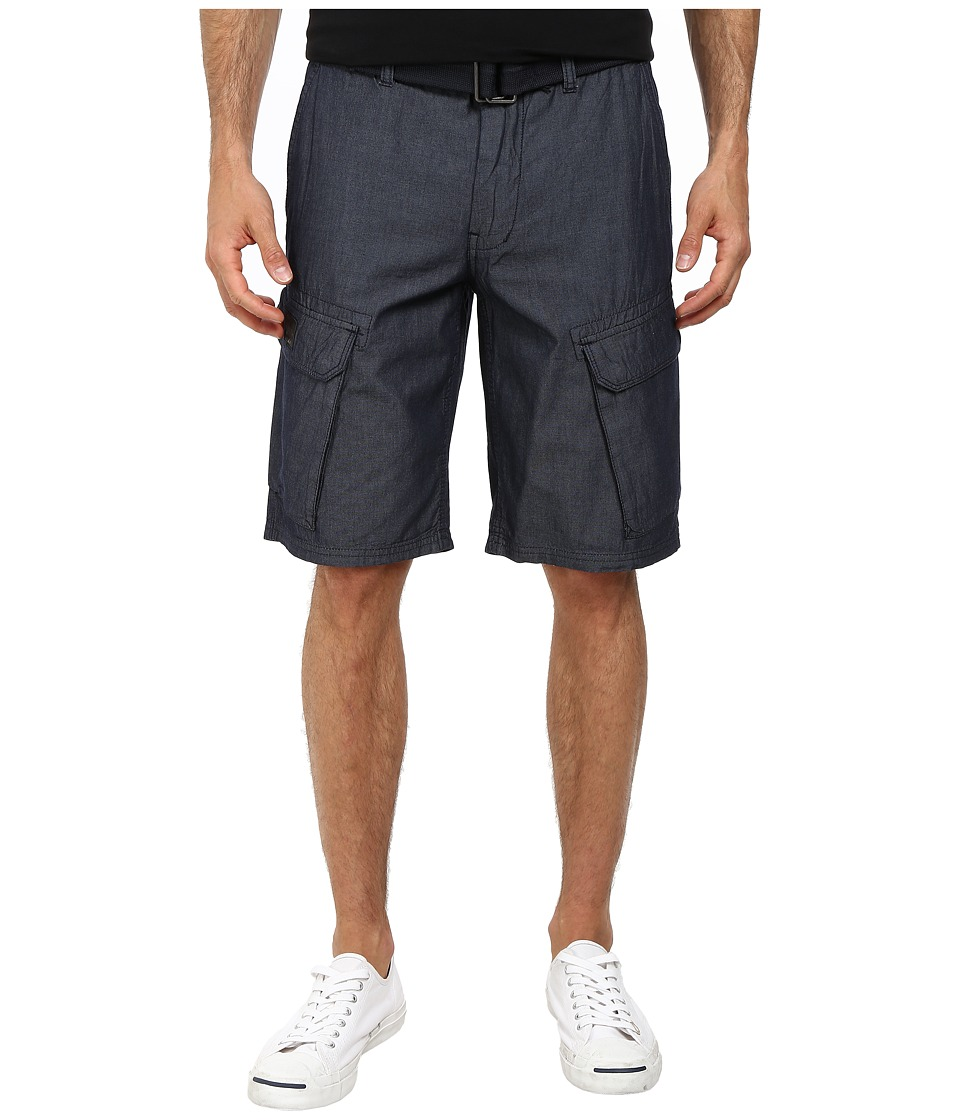 DKNY Jeans - Chambray Cargo Shorts in Indigo (Indigo) Men