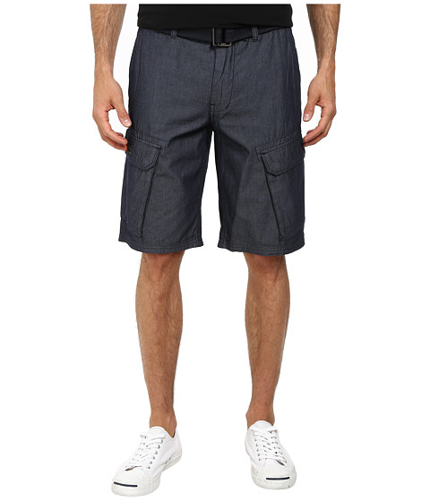 DKNY Jeans - Chambray Cargo Shorts in Indigo (Indigo) Men's Shorts