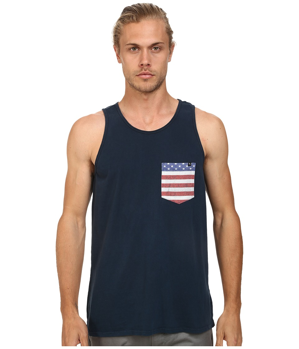 Rip Curl - Americano Custom Tank Top (Navy) Men