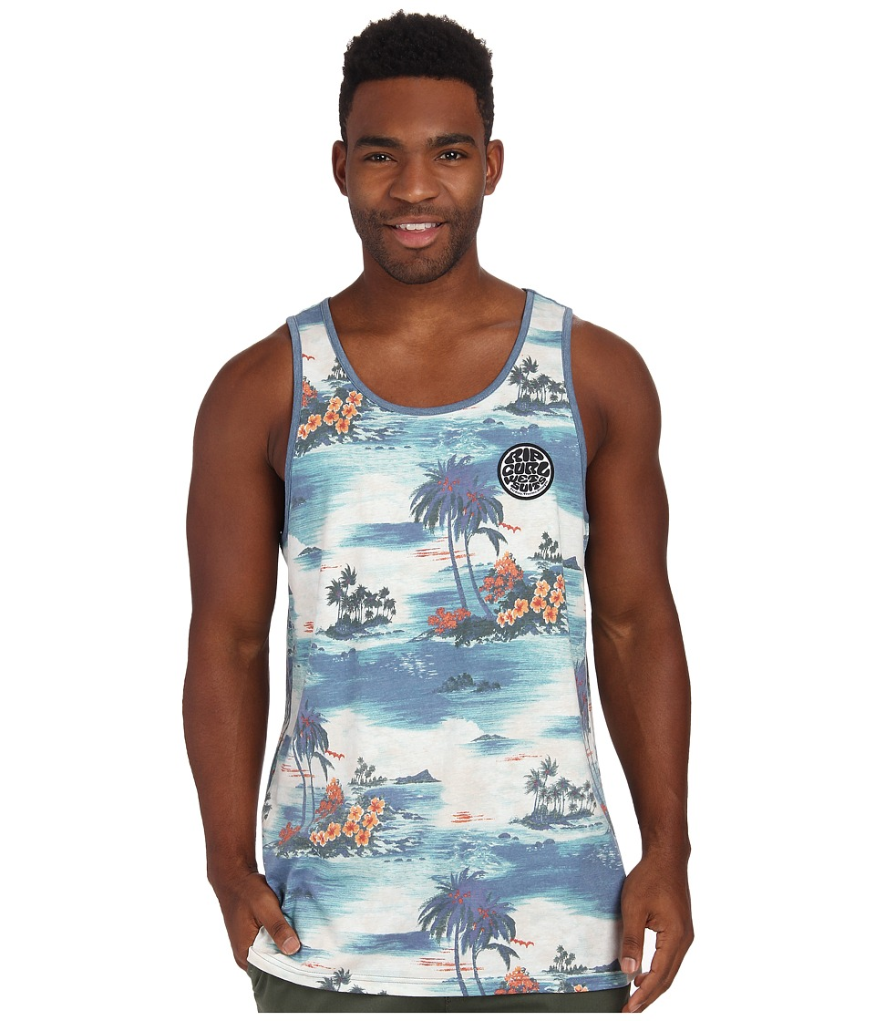 Rip Curl - Island Time Tank Top (Blue) Men's Sleeveless