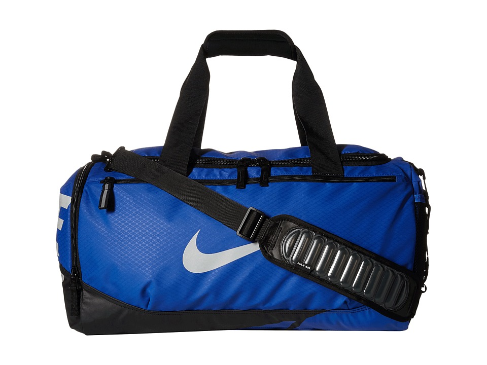 Nike - Vapor Max Air Small Duffel (Game Royal/Black/Metallic Silver) Duffel Bags