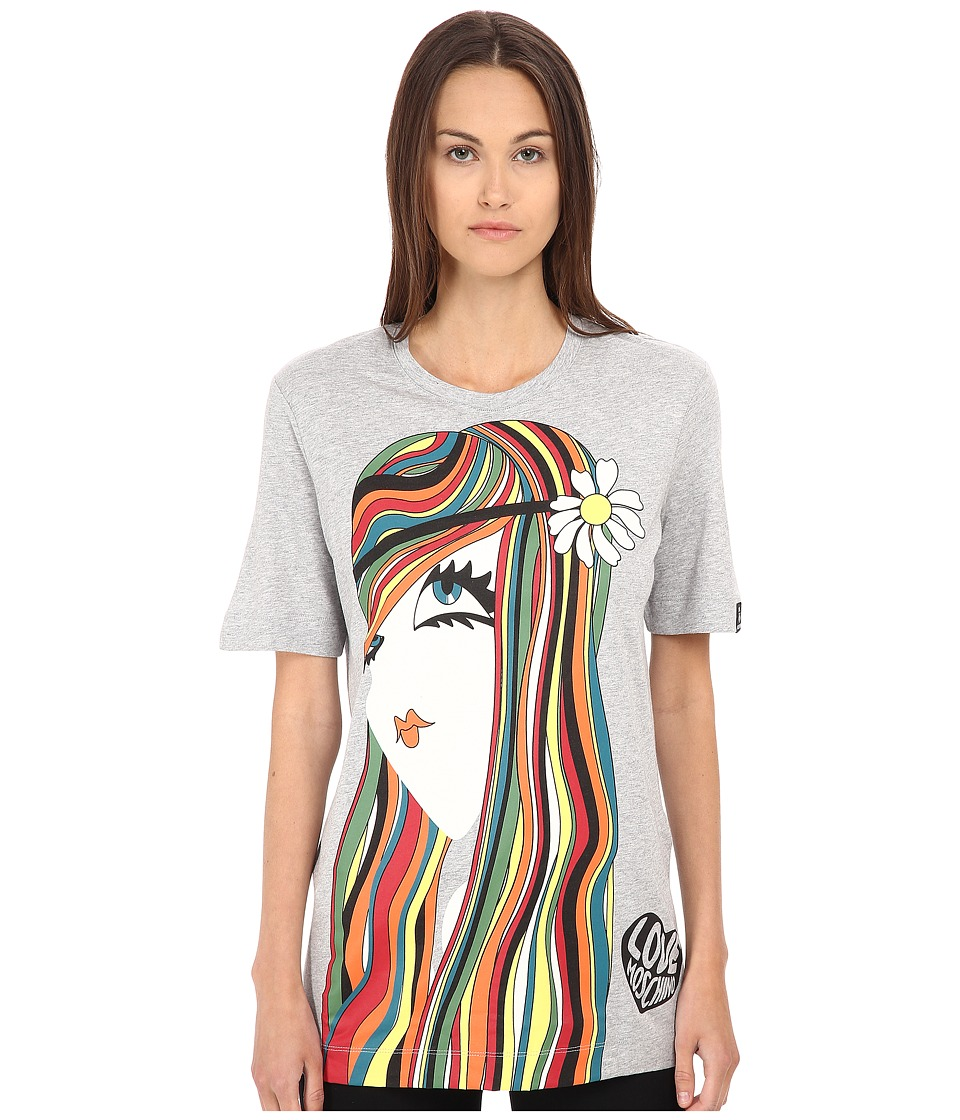LOVE Moschino - Tee w/ Graphic (Grey) Women