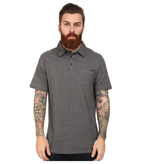 Rip Curl - Country Club Polo (Black) Men's Clothing