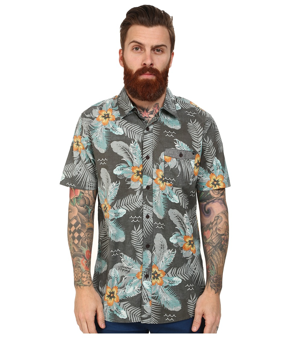 Rip Curl - Outcast Short Sleeve Shirt (Charcoal) Men's Short Sleeve Button Up
