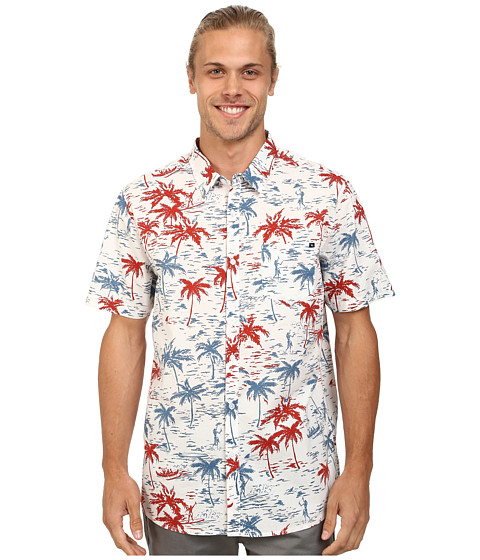 Rip Curl - Revere Short Sleeve Shirt (White) Men's Short Sleeve Button Up