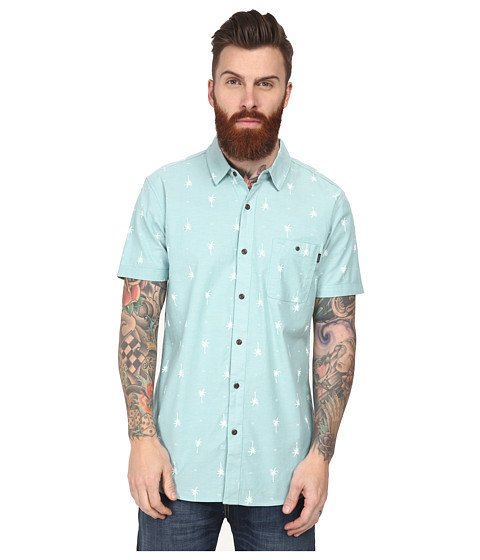 Rip Curl - Duran Short Sleeve Shirt (Aqua) Men