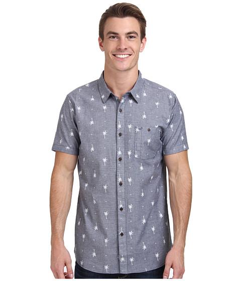 Rip Curl - Duran Short Sleeve Shirt (Navy) Men's Short Sleeve Button Up