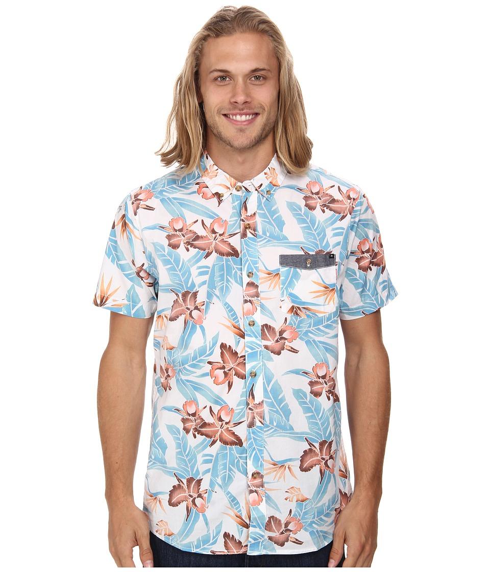 Rip Curl - Ventura Short Sleeve Shirt (Blue) Men