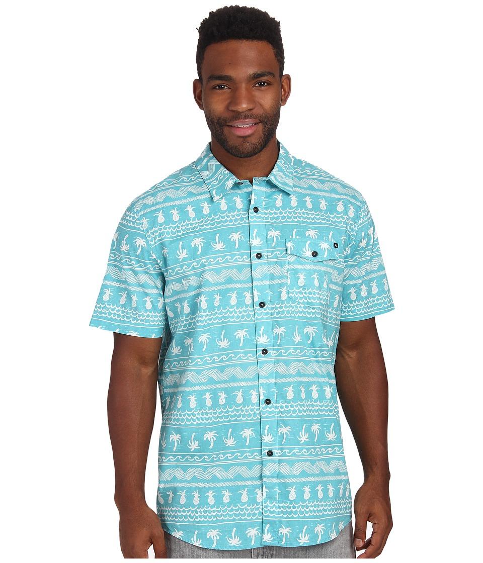 Rip Curl - Coco Cabana Short Sleeve Shirt (Aqua) Men's Short Sleeve Button Up