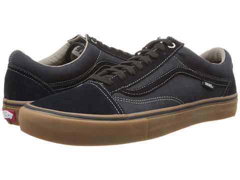 Vans - Old Skool Pro (Blue Graphite/Gum) Men's Skate Shoes