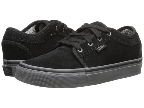 Vans Kids - Chukka Low (Little Kid/Big Kid) ((Smashed Paisley) Black/Grey) Boys Shoes