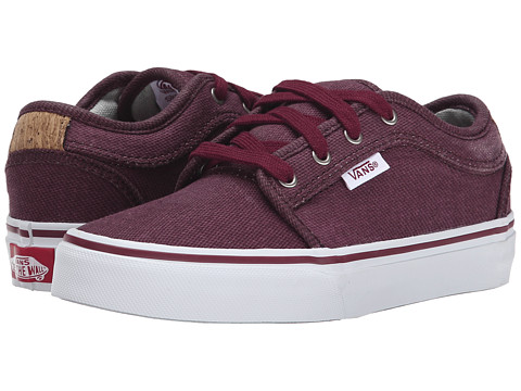 Vans Kids - Chukka Low (Little Kid/Big Kid) ((Cork) Wine) Boys Shoes