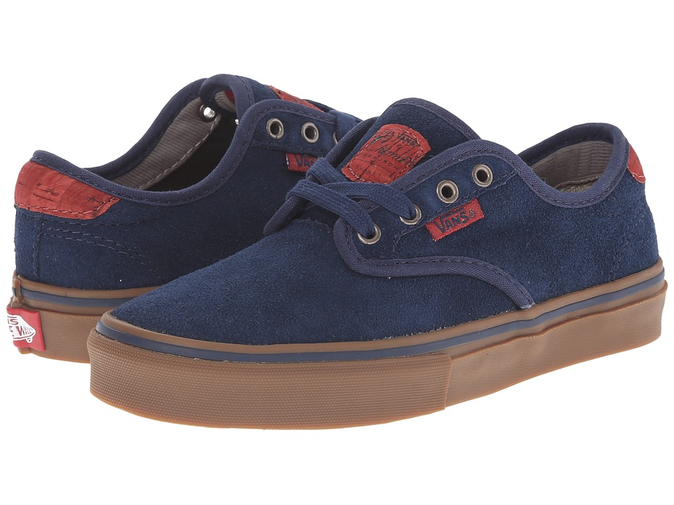 Vans Kids - Chima Pro (Little Kid/Big Kid) ((Suede) Navy/Gum) Boys Shoes