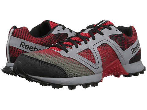 Reebok - Dirtkicker Trail II (Red Rush/Flat Grey/Neon Cherry/Black/Silver) Men's Running Shoes
