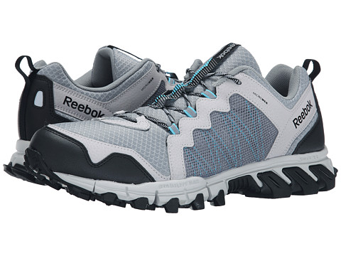 Reebok - Trail Grip 4.0 RS (Flat Grey/Steel/Neon Blue/Black) Men's Running Shoes