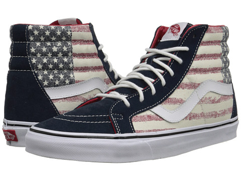 Vans - SK8-Hi Reissue ((Americana) Dress Blues) Skate Shoes