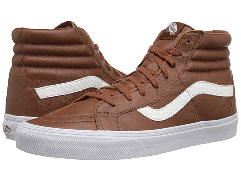 Vans - SK8-Hi Reissue ((Premium Leather) Tortoise Shell) Skate Shoes