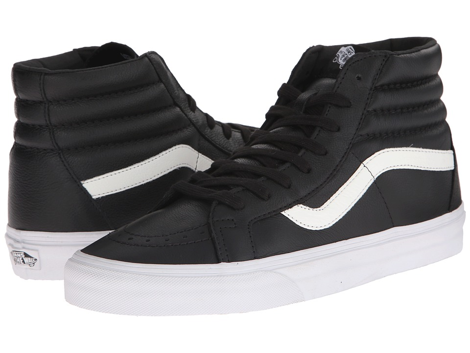 Vans - SK8-Hi Reissue ((Premium Leather) Black) Skate Shoes