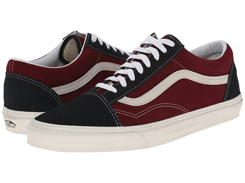 Vans - Old Skool ((Vintage) Blue Graphite/Windsor Wine) Skate Shoes