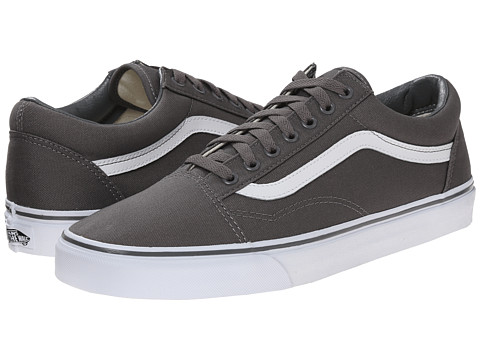 Vans - Old Skool ((Canvas) Pewter/True White) Skate Shoes