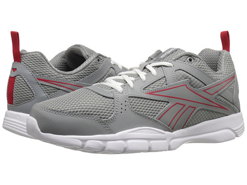 Reebok - Trainfusion 5.0 L MT (Flat Grey/Red Rush/White) Men's Cross Training Shoes