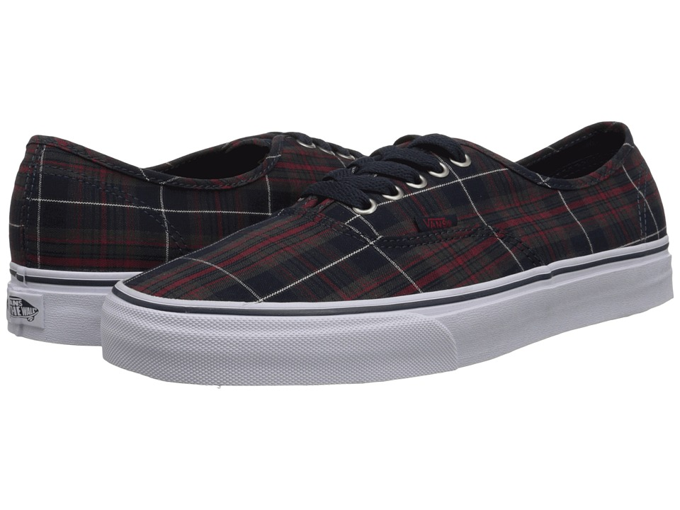 Vans - Authentic ((Plaid) Dress Blues) Skate Shoes