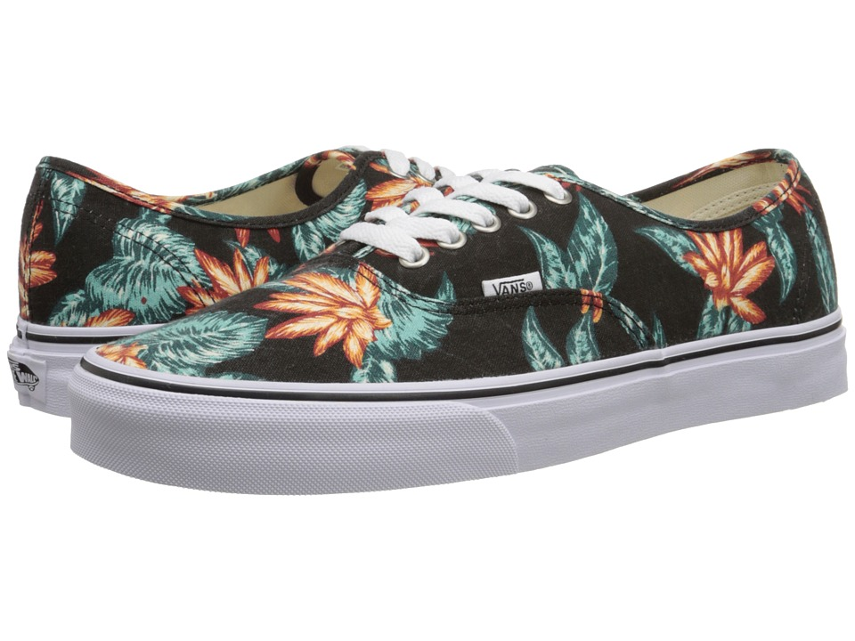 Vans - Authentic ((Vintage Aloha) Black/True White) Skate Shoes