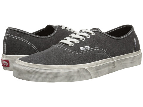 Vans - Authentic ((Overwashed) Black) Skate Shoes