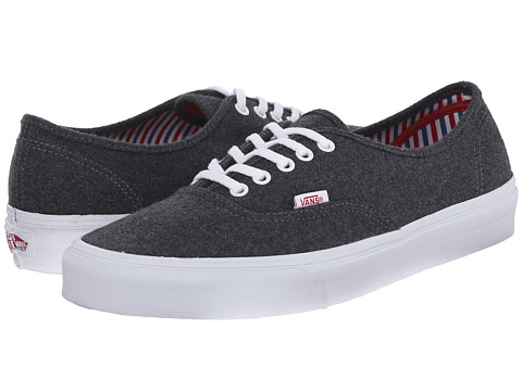 Vans - Authentic ((Wool Sport) Pewter/White) Skate Shoes