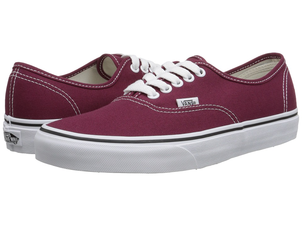 Vans - Authentic (Cordovan/True White) Skate Shoes