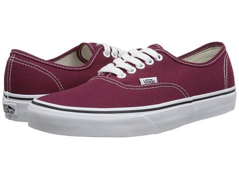 Vans - Authentic (Cordovan/True White) Skate Shoes