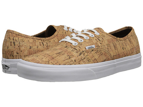 Vans - Authentic ((Cork) Tan/True White) Skate Shoes