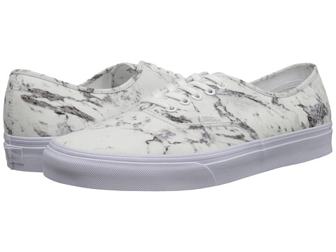 Vans - Authentic ((Marble) True White) Skate Shoes