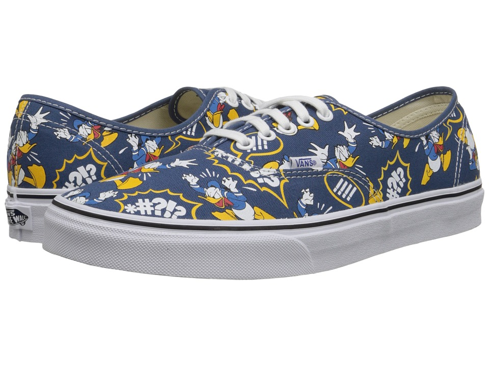 Vans - Disney Authentic ((Disney) Donald Duck/Navy) Skate Shoes