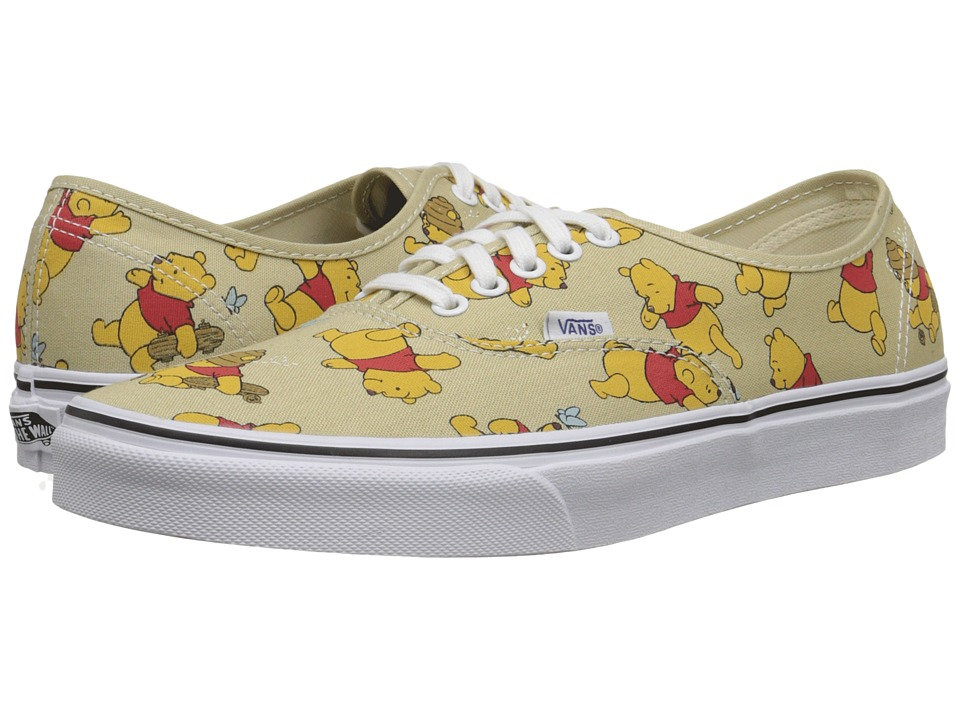 Vans - Disney Authentic ((Disney) Winnie The Pooh/Light Khaki) Skate Shoes