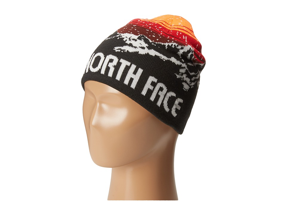 The North Face Kids - Anders Beanie (Big Kids) (TNF Black/Sequoia Red CZX) Beanies