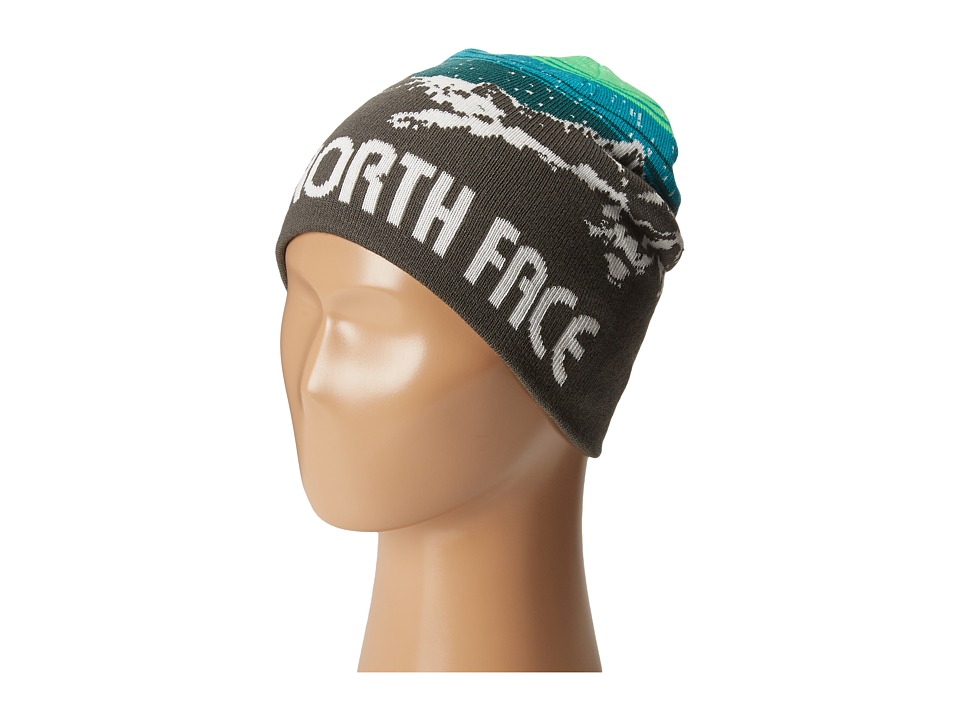 The North Face Kids - Anders Beanie (Big Kids) (Graphite Grey/Depth Green) Beanies