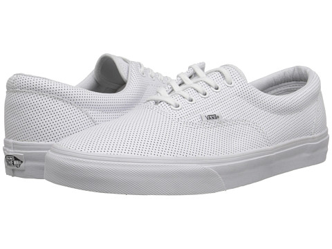 Vans - Era ((Perf Leather) True White) Skate Shoes