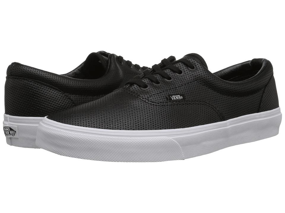 Vans - Era ((Perf Leather) Black) Skate Shoes