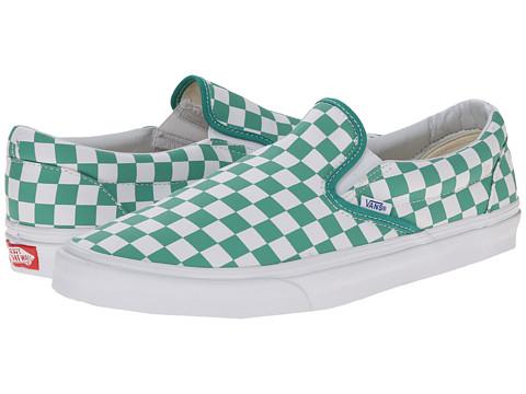 Vans - Classic Slip-On ((Golden Coast) Alhambra/True White/Check) Skate Shoes