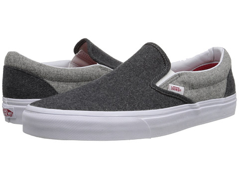 Vans - Classic Slip-On ((Wool Sport) Pewter/Gray) Skate Shoes