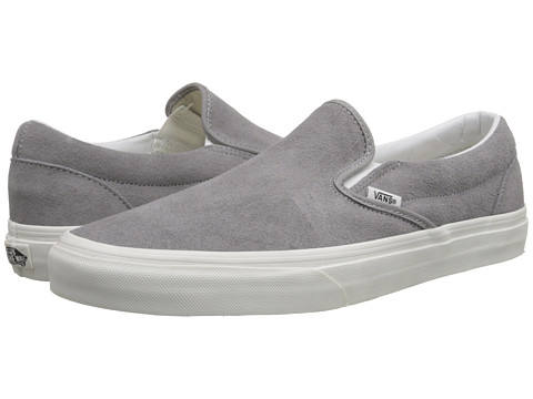 Vans - Classic Slip-On ((Vintage) Frost Gray/Blanc) Skate Shoes